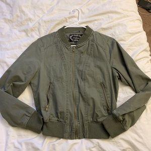 Jackets & Blazers - Dark Green Bomber Jacket